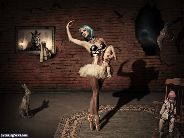 Ballerina-With-Blue-Hair-Dancing-in-a-Surreal-Warehouse-127877